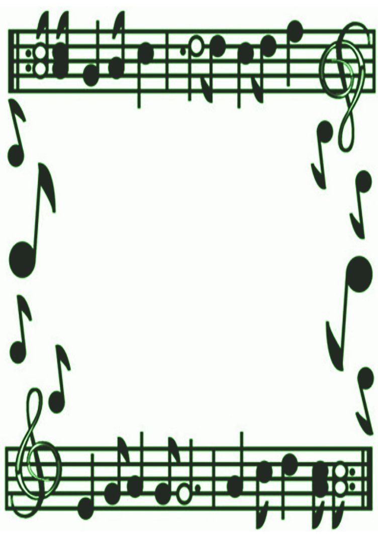 Music note border 5 music notes border free clipart images