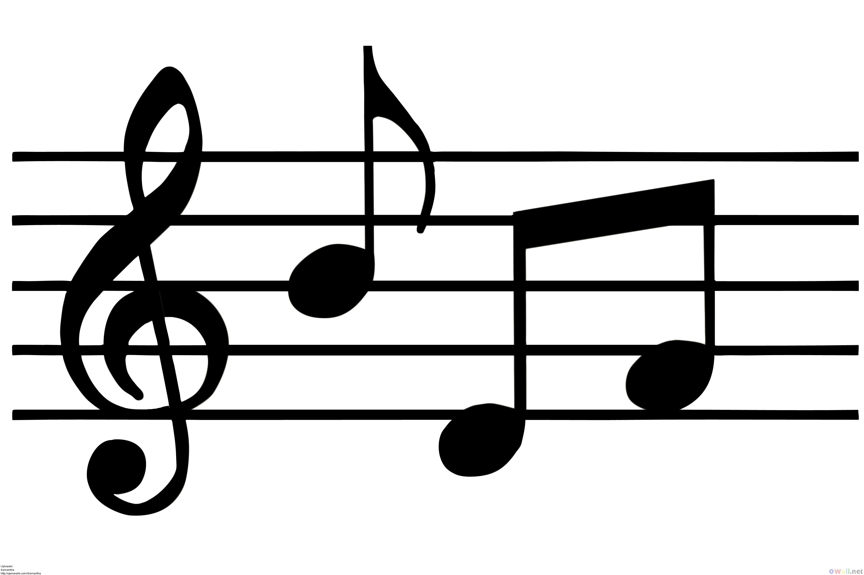 Music note border clipart free images 3