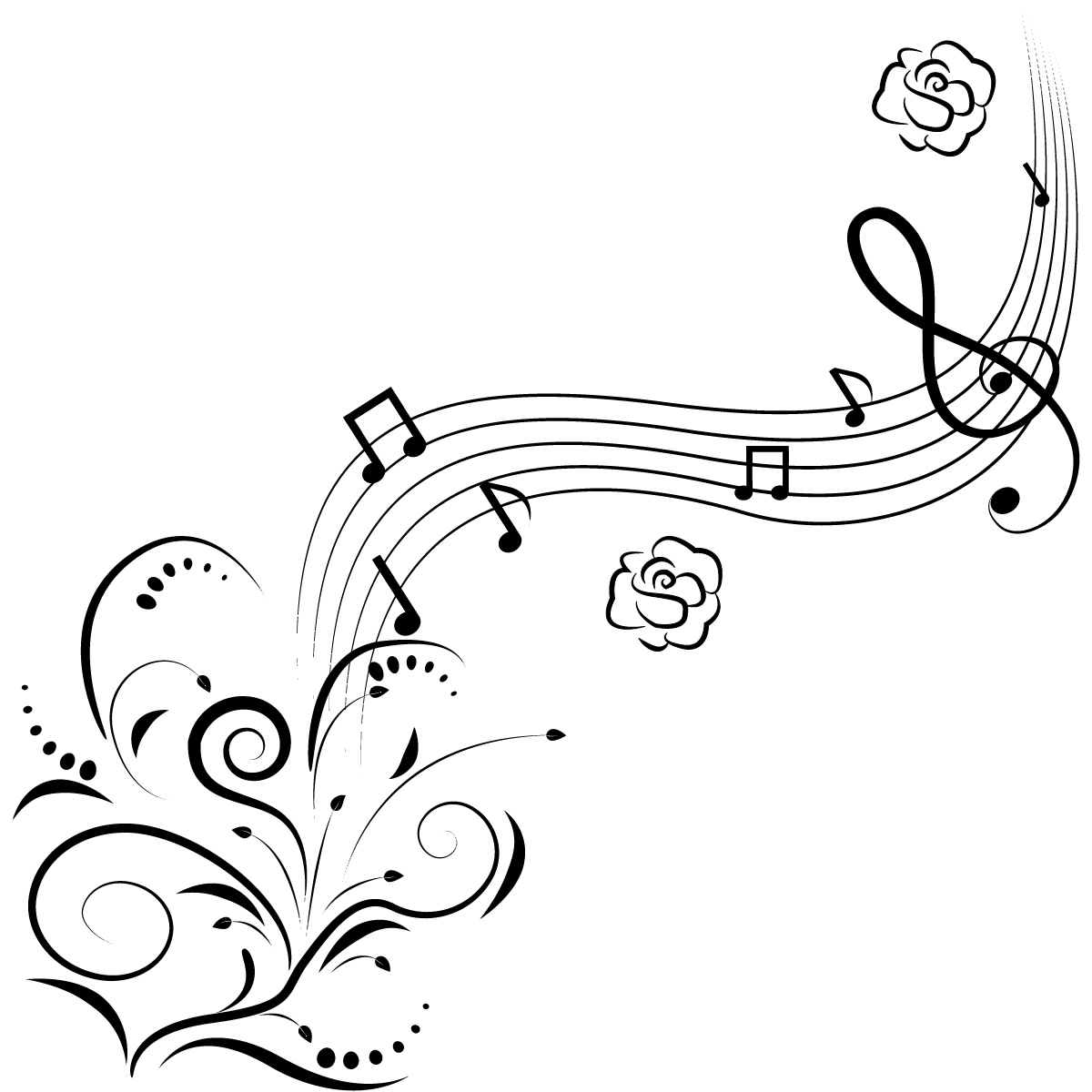 Music note border free music border image 5 musical note borders clipart clipartpost
