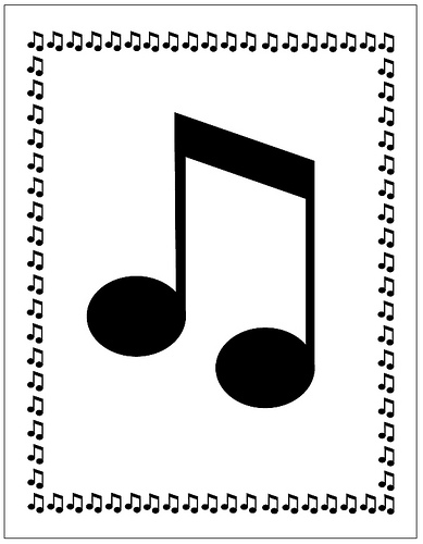 Music note border item 1 free clipart images