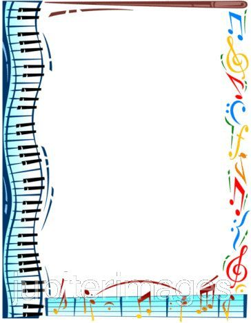 Music note border music border clip art free free