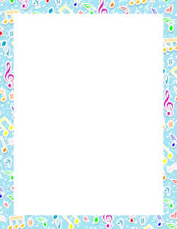Music note border music border clip art page and vector graphics