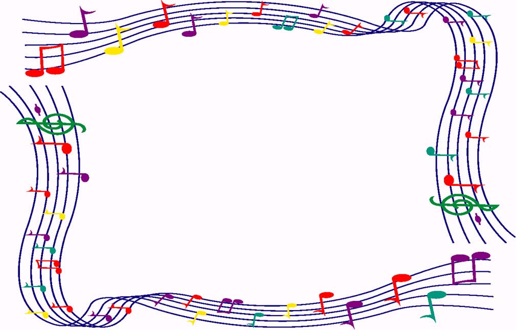 Music note border music border clipart free