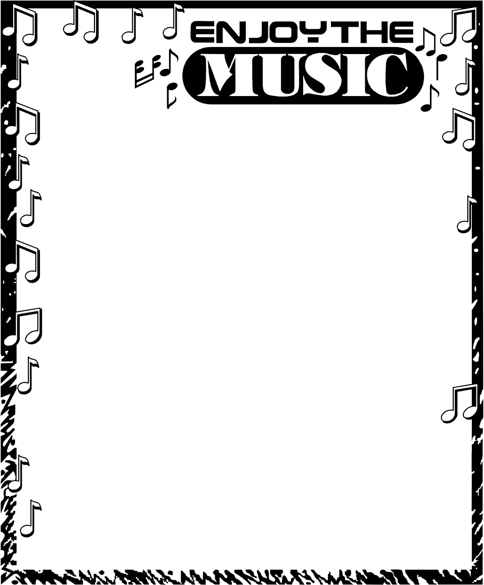 Music note border music border free a blank music