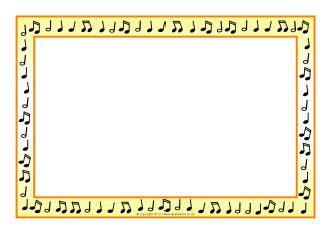 Music note border music border music note landscape clipart 2