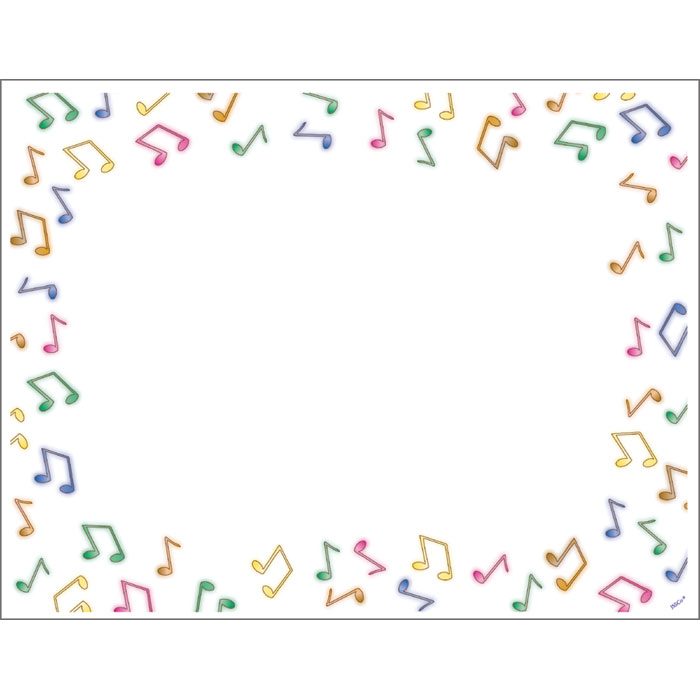 Music note border music border musical instrument clipart clipartpost