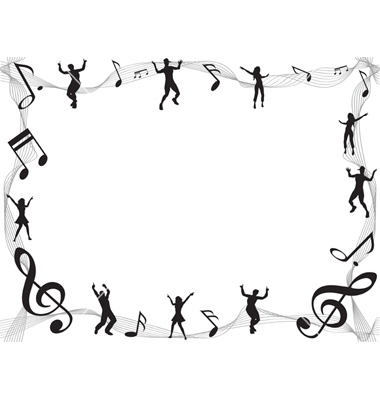 Musical borders music note border clipart