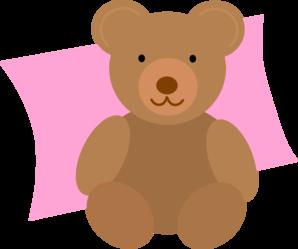 Nap time teddy clip art at vector clip art