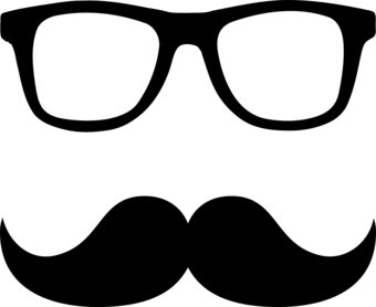 Nerd glasses clip art 2
