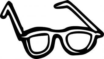 Nerd glasses funky glasses clipart