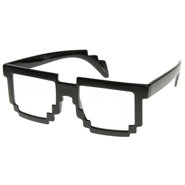 Nerd glasses zerouv pixelated 8 bit clear lensputer nerd geek clip art
