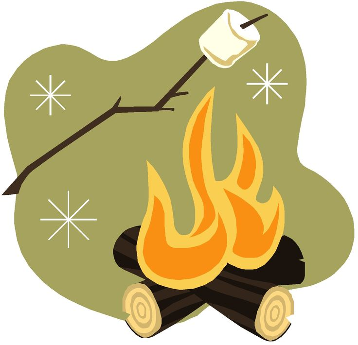 Outdoor clipart bonfire pencil and in color outdoor