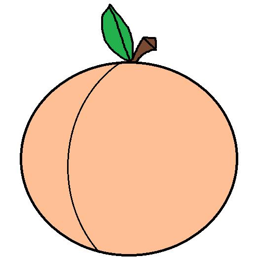 Peach clip art 3