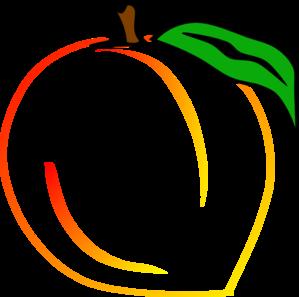 Peach clip art free clipart images 5