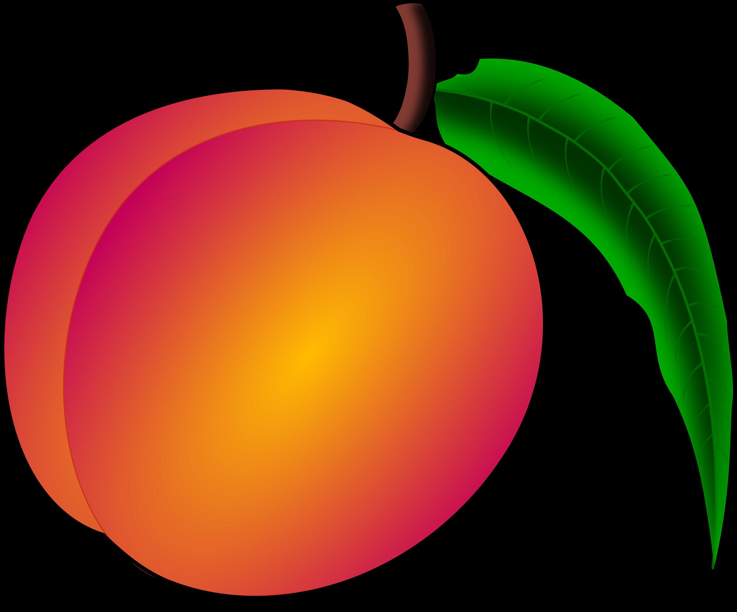 Peach clip art free clipart images
