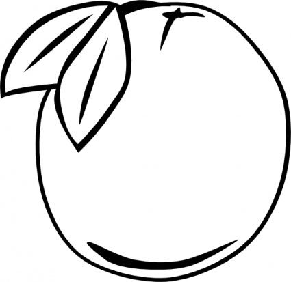 Peach clip art peach clipart fans 5