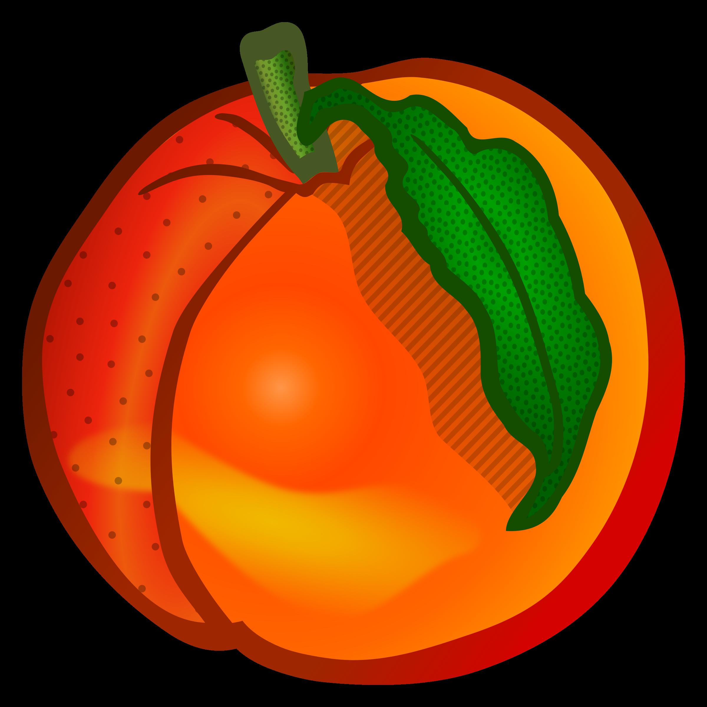 Peach clipart image