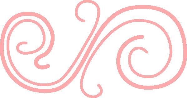 Peach swirl clip art at vector clip art