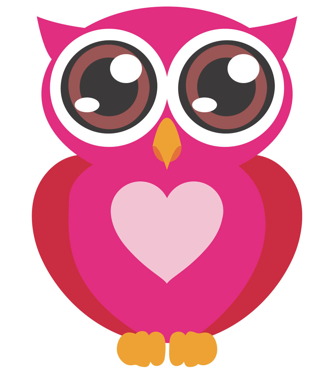 Pink baby owl clipart free images