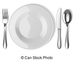 Plate clipart plate silverware pencil and in color