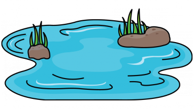Pond clipart drawn pencil and in color pond