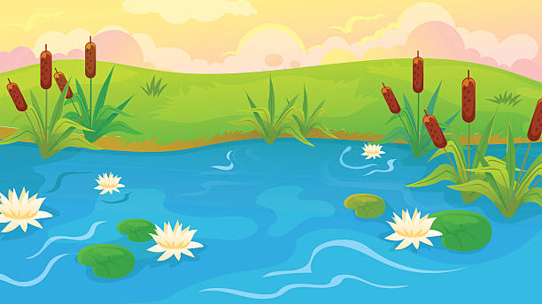 Pond clipart water pond pencil and in color