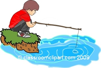 Pond fishing clipart