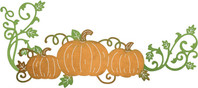 Pumpkin patch cheery lynn lacey pumpkin corner flourish die clipart