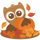 Pumpkin patch owl behind pumpkin svg scrapbook cut file cute clipart files for