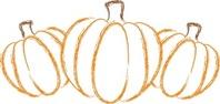 Pumpkin patch pumpkin vine clipart