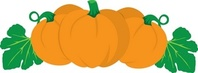 Pumpkins clipart image in a pumpkin patch great for