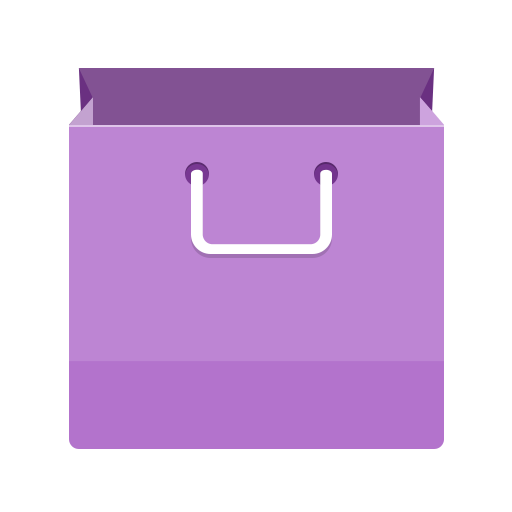 Purple shopping bag clip art mart