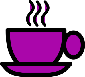Purple tea cup clip art at vector clip art