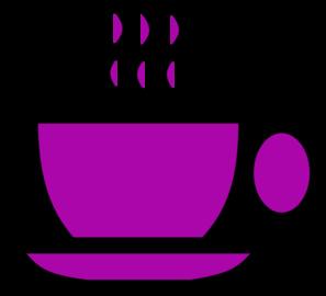 Purple tea cup clip art at vector clip art