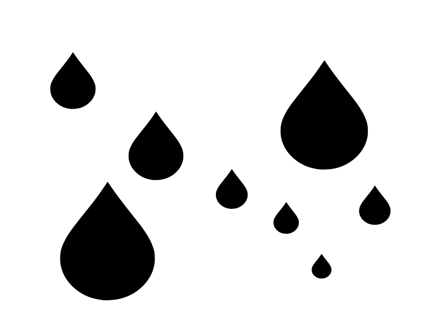 Raindrop template clipart clipart