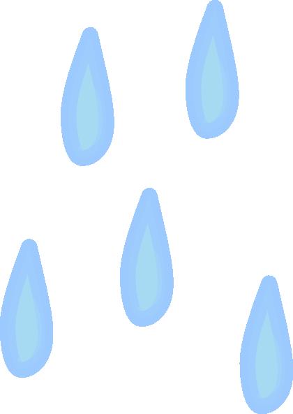 Raindrops clip art at vector clip art
