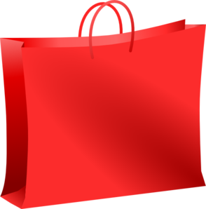 Red shopping bag clip art at vector clip art