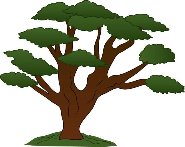 Retro tree clipart clip art vintage trees image 4
