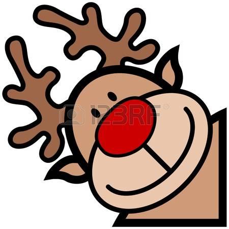 Rudolph face clipart