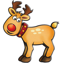 Rudolph top reindeer clip art free clipart image
