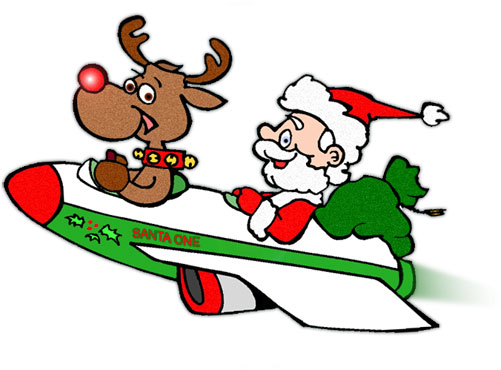 Santa and rudolph clipart clipartmonk free clip art images