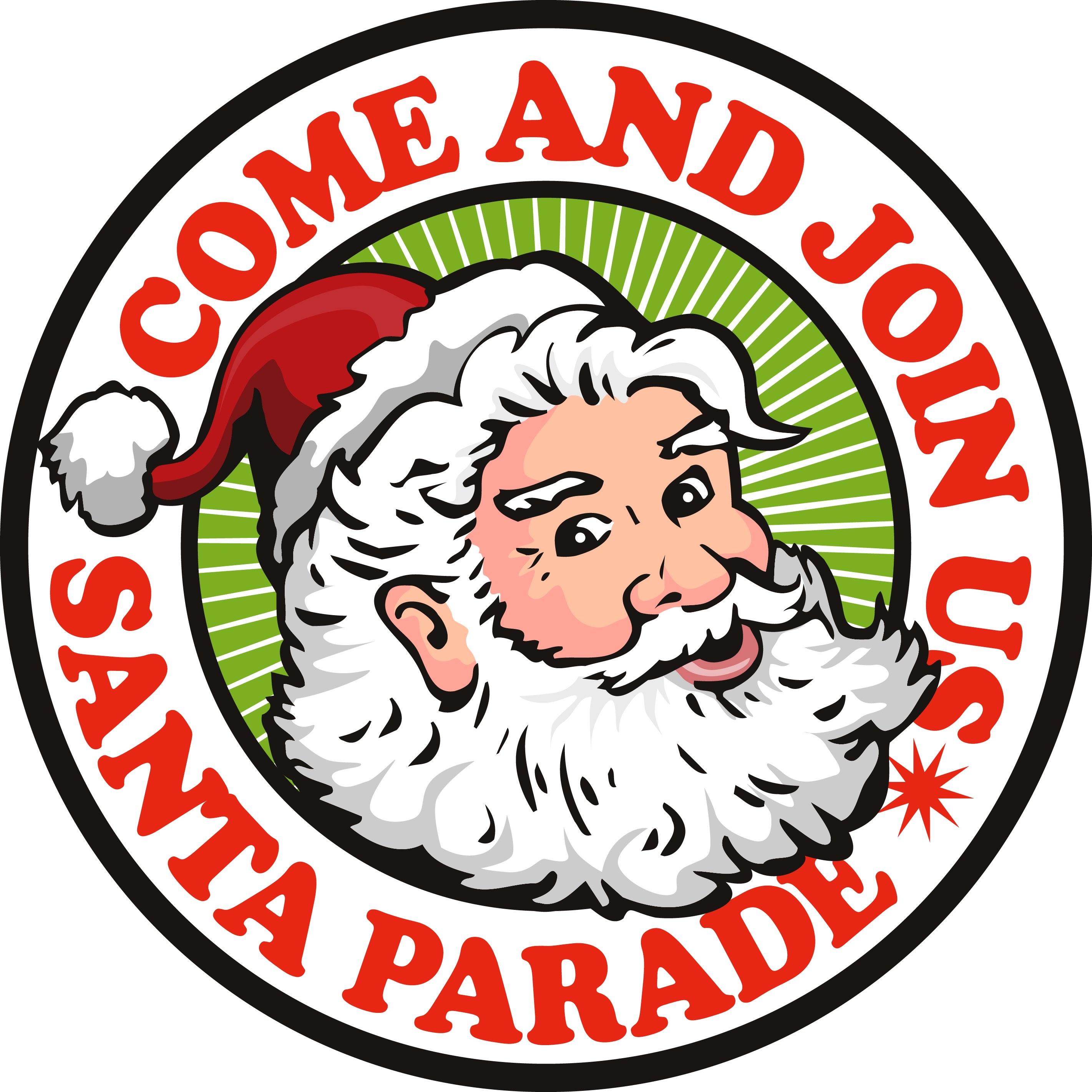 Santa parade clipart