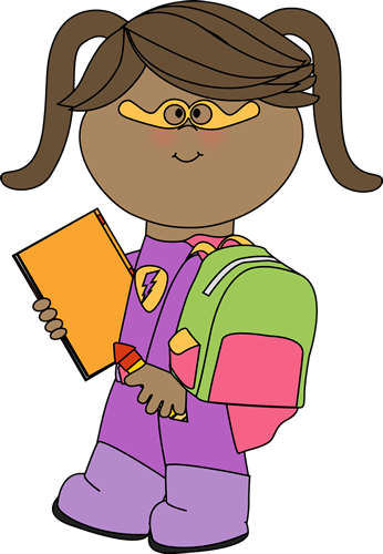 School superhero clipart free