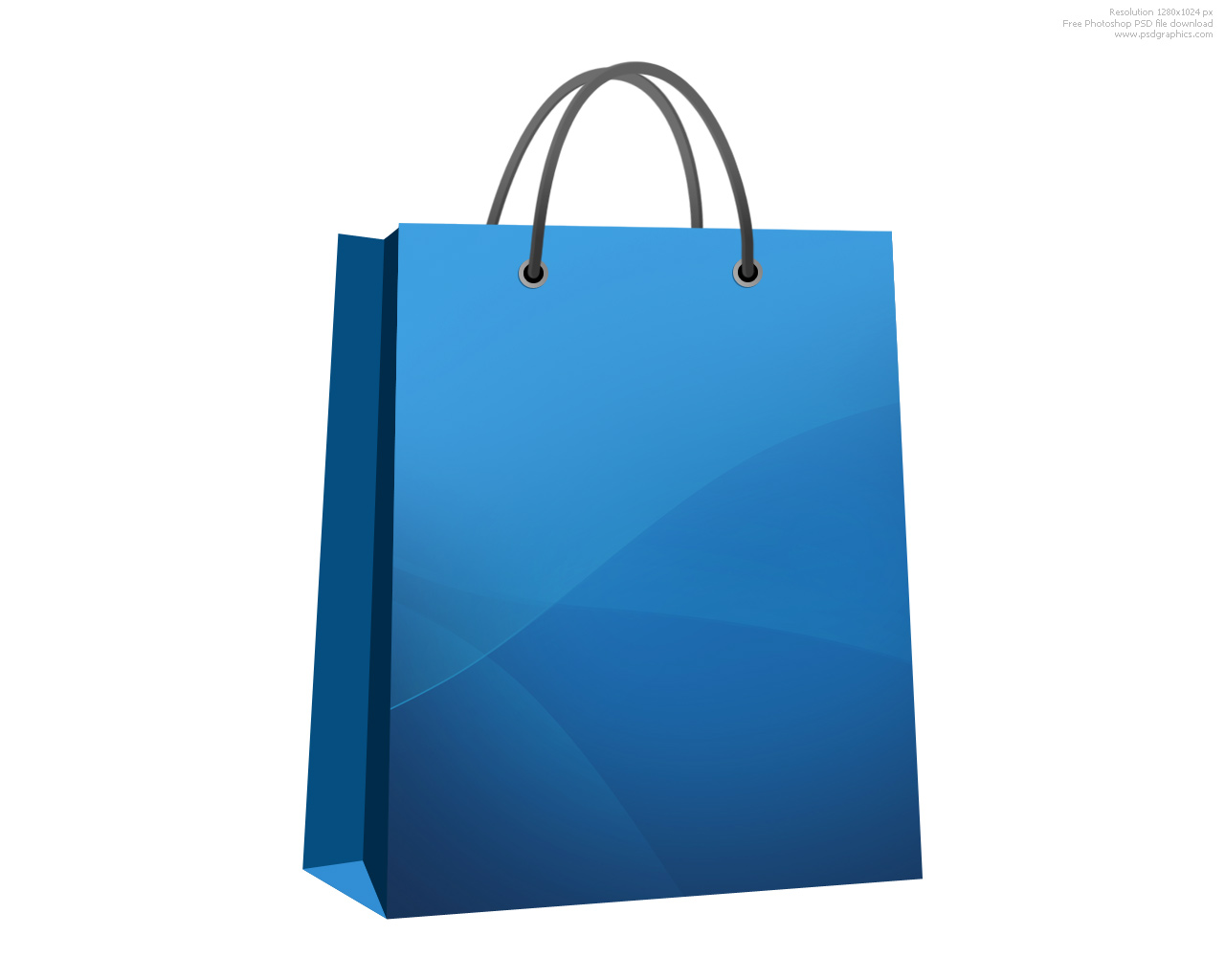 Shopping bag clipart 6