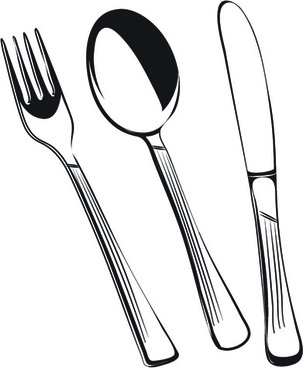 Silverware cutlery free vector download free formercial use clipart