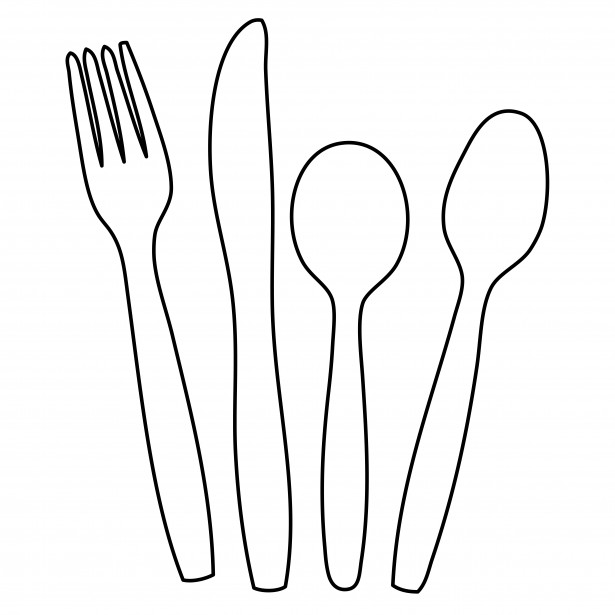 Silverware cutlery outline clipart free pictures