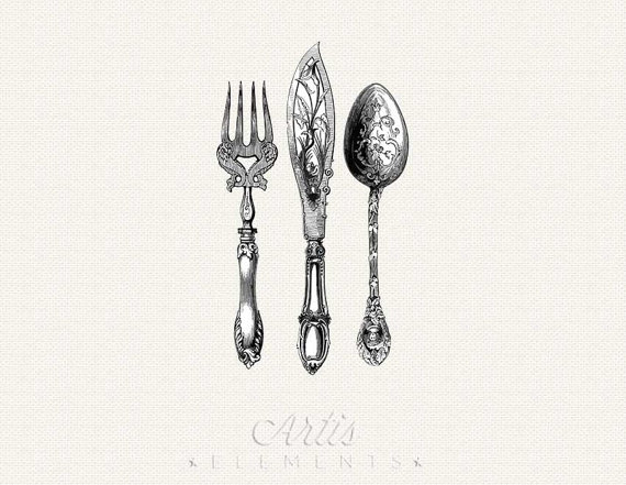 Silverware cutlery spoon clipart explore pictures