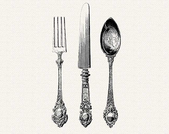 Silverware khife clipart flatware pencil and in color khife