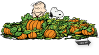 Snoopy pumpkin patch clipart