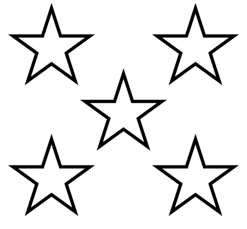 Star  black and white 5 stars clip art library